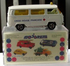 Majorette is the French Matchbox. Usually their packages are red, but I liked this picture. For many years they were available in the United States but have been rarely seen here since about 2000.