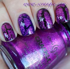 90+ Fantastic Crackle Nail Art For Your Super Cool Nails Check more at http://lucky-bella.com/crackle-nail-art/