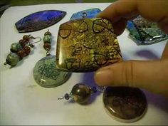 Video: Mixed Media Faux Batik tutorial  or layered stamping on clay.  #Polymer #Clay #Tutorials