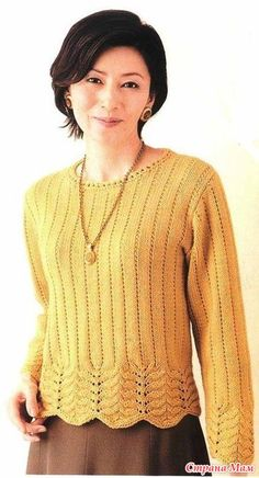 Sweterek z pięknym uprzęży.  Szprychy.