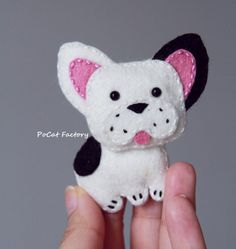French bulldog felt dog brooch magnet keychain от PoCatFactory - Tap the pin for the most adorable pawtastic fur baby apparel! You'll love the dog clothes and cat clothe