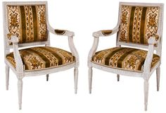 Coleen Rider - Italian Painted Armchairs, Pair