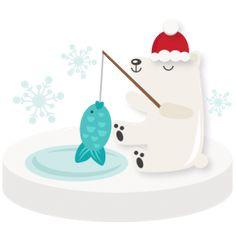 Fishing Polar Bear SVG scrapbook winter svg cut file snowflake svg cut files for cricut cute svgs free Art Background, Background Patterns, Winter Clipart, Pine Cone Crafts, Paper Crafts, Diy Crafts, Cute Clipart, Silhouette Design, Svg Cuts