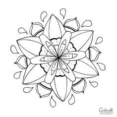 Lotus Flower, Printables, Mademoiselle, Tattoos, Flowers, Street, Mandala Coloring, Little Gifts, Tatuajes