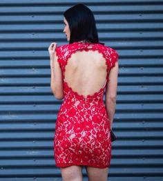 Shop this look at DTK Austin Store | Lookave #dress #minidress #red #reddress #redminidress #openbackdress @dtkaustin @aidanaidan #ootd #onlineshopping #lookave #onlineshopping #streetstyle #style #fashion #outfit