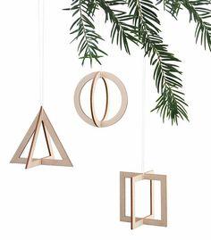 schmuck f r den weihnachtsbaum engel reh und tannenbaum deko anh nger aus holz f r 5 95. Black Bedroom Furniture Sets. Home Design Ideas