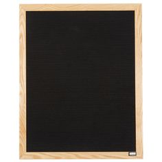 """Aarco 30"""" x 24"""" Black Felt Open Face Vertical Indoor Message Board with Solid Oak Wood Frame and 3/4"""" Letters"""