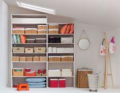 Cada cosa en su lugar! Organiza tus repisas con  cajas y canastos, se verá más limpio y muy ordenado. Primavera - Verano 2016