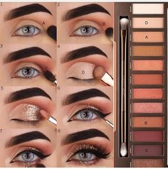 Eye makeup for brown eyes;- Augen Make-up Tutorial; Augen Make-up für braune Augen; Augen Make-up natürlic… Eye Makeup Tutorial; Eye makeup for brown eyes; Eye makeup, of course; Make up - Natural Smokey Eye, Natural Eyes, Natural Eye Makeup, Natural Beauty, Smoky Eye, Natural Hair, Skin Makeup, Makeup Brushes, Beauty Makeup