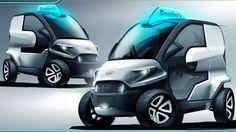 Domino's pizza delivery car concept by Anej Kostrevic (Local Motors Design Competition) Car Design Sketch, Car Sketch, Design Transport, Microcar, Smart Car, Futuristic Cars, Henry Ford, Transportation Design, Future Car