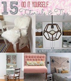 15 Cottage Decor #DIY Projects