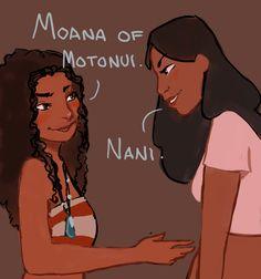Oh, yessss!!! Must happen!!! Moana meeting Nani, Lilo & Stitch!!!