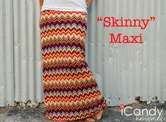 DIY Skinny Maxi Skirt #DIY #Sewing #Sew #Clothes #Skirts #MaxiSkirts