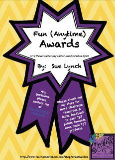 """The Best of Teacher Entrepreneurs: FREE MISC. LESSON - """"Awards~Behavior Ribbon Awards~Classroom Management"""""""