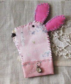 Bunny pin, brooch or ornament