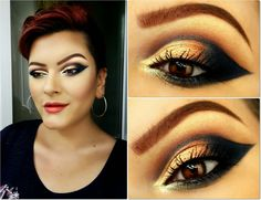 Dramatic winged fall makeup