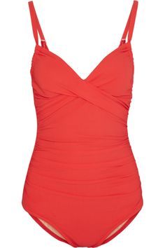 Karla Colletto  Ruched Swimsuit, $300 #fourthofjuly