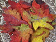 Wet Felting Autumn Leaves  a fun and easy beginner wet felting tutorial!