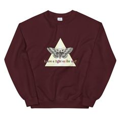 A Moth's Request - Unisex Crew Neck Sweatshirt - Maroon / XL
