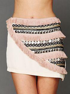 Supercell Embellished Mini Skirt