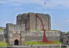 The iconic poppy sculpture Weeping Window by artist Paul Cummins and designer Tom Piper will open tomorrow, Wednesday 23 May, at Carlisle Castle Carlisle England, Carlisle Cumbria, Carlisle Castle, Ceramic Poppies, English Heritage, Tower Of London, Lake District, Tower Bridge, Cummins
