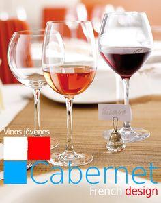 Cabernet VINOS JÓVENES es resistencia, brillo y pureza. Parte principal de la familia #Cabernet de #Chef&Sommelier. Para degustar los mejores #vinos y disfrutar la sutileza de su #aroma y #sabor. Basta con llenar la #copa en su medida ideal para obtener el perfecto grado de oxigenación necesaria para el #vino. Disponible desde 2,31€/unidad en http://www.tiendacrisol.com/tienda.php?Id=167