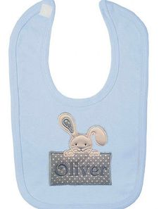 New #personalised name my 1st #easter baby #bunny bib boy girl gift new pink blue,  View more on the LINK: 	http://www.zeppy.io/product/gb/2/262227060610/