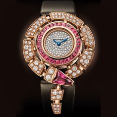 The Serpenti Incantation watch by @bulgari with diamonds and rubellite