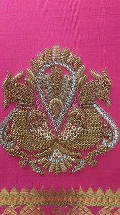 Women's Blouses for sale Zardosi Embroidery, Hand Work Embroidery, Shirt Embroidery, Hand Embroidery Designs, Beaded Embroidery, Embroidery Patterns, Hand Work Design, Designer Blouse Patterns, Bridal Blouse Designs