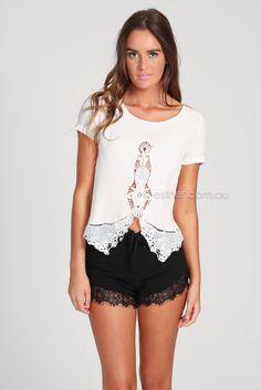 lily top - white | Esther clothing Australia