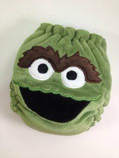 Grouchy Monster #oscarthegrouch #sesameStreet  #clothdiaper #wahm #madeincanada