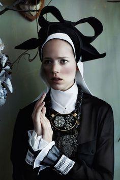 Freja B in Dutch Master photoshoot for Sept 11 Vogue UK
