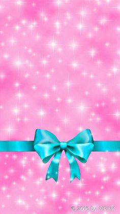 Pink Glitter Bow Wallpaper