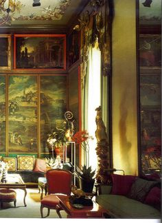 Tony Duquette Interiors   ... the Hilltop Estate