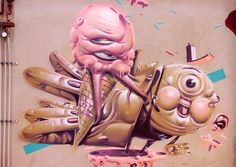 Street art | Mural by HRVB [Herr von Bias] The Weird