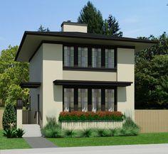 Home Plans & Unique House Designs - Robinson Plans Narrow Lot House Plans, Small House Floor Plans, Sims House Plans, Dream House Plans, Unique House Design, Tiny House Design, House Plans 2 Storey, Cottage Plan, Cottage Living