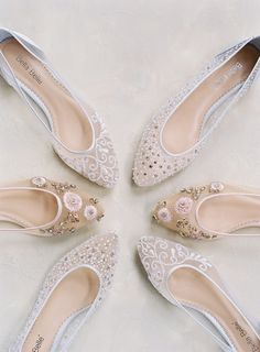 Wedding flats for days! Our Bella Belle Euphoria 2018 wedding shoe collection features flats in ivory and blush. Featuring sparkly crystal embellishments, silver treading and floral feminine embroidery, perfect for brides who are romantic, elegant, sophisticated and simple. Read the story of our Euphoria collection now! Photography: Laura Gordon