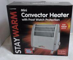 Mini Convector Heater Heating Lloytron 450W Free Standing/Mountable FROST WATCH #lloytron