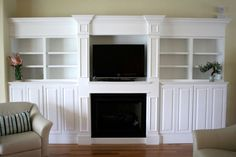 Ventless fireplace with Built-ins