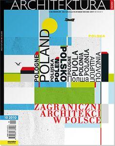 editorial design cover art work for MURATOR ARCHITEKTURA by DESIGNERDEUTSCH — © Michael Okraj DESIGNERDEUTSCH