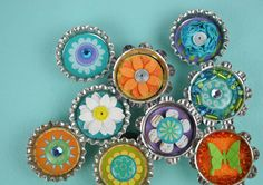 Make these easy bottle cap magnets www.fiskars.com