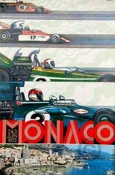 Grand Prix Monaco 1973 poster by Anonymous