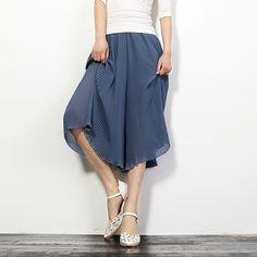 Ruffled Chiffon Wide Leg Pants Shorts Hotpants Q193