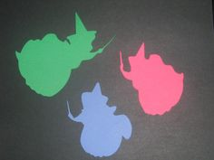Disney Princess Sleeping Beauty Silhouettes for framing, birthday parties, invitations, banners, scrapbooking. $5.00, via Etsy.