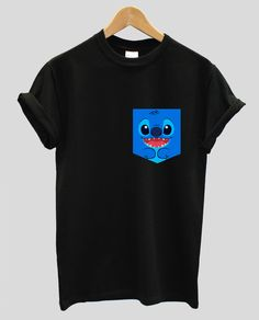 real stitched lilo and stitch pocket t-shirt hipster indie swag dope hype black white men woman cute by IIMVClOTHING on Etsy https://www.etsy.com/listing/255883912/real-stitched-lilo-and-stitch-pocket-t