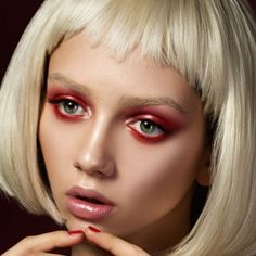 Avant-Garde Makeup | Avant-garde Eye Makeup with Red Eyeshadow