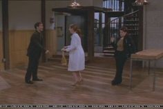 Glenda Rovello: When the broker takes Will and Grace to see two different apartments in this episode, it's actually the same apartment both times. We just moved walls around and added details to the wainscoting to make them look different. For the first apartment, to make it smaller, we covered up the spiral staircase and the kitchen that you see in the second apartment with walls. (Will & Grace: Fabulously Uncensored)
