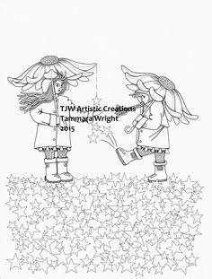 Star Rain Girls! by TJWArtisticCreations on Etsy