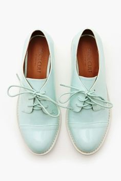 71888c2eeb1bd2 Charlie Oxford - Mint The coolest mint vegan leather oxfords featuring a  lace-up front and white contrast sole. Fully lined interior