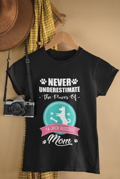 Jack Russell Mom T-Shirt Dog Lovers, Mom, Trending Outfits, T Shirt, Etsy, Fashion, Supreme T Shirt, Moda, Tee Shirt